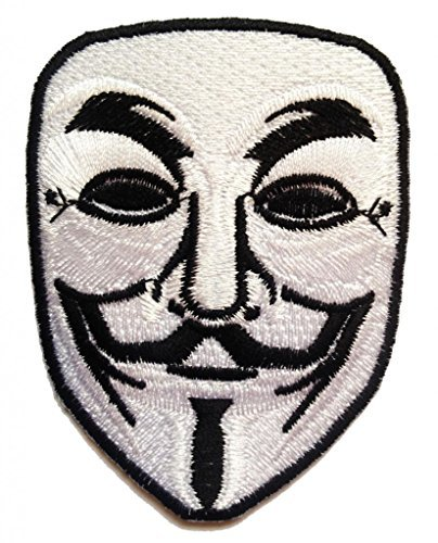 V Per VENDETTA Film toppa ' 6.5 x 8.5 cm ' - Toppa Patches Toppa Toppa Termoadesiva Toppa Termoadesiva Per Stoffa Ricamato Toppa Embroidered Patch Applicazioni Applique Catch The Patch