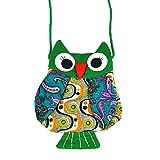 Fablcrew Kinder Umhängetasche Hübsche Kinder Tasche für 2-8 Mädchen Jahren kleine Umhängetasche schönes Geschenk zum Geburtstag Eule Umhängetasche(Smaragd)
