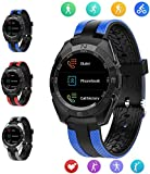 Fitness tracker Hr, orologio sportivo intelligente per esterno unisex con, contatore di calorie e contapassi impermeabile per sonno e frequenza cardiaca, per regalo per bambini Android e iOS, blu