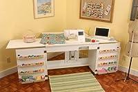 Mueble para máquina de coser - Bertha Blanco de Arrow Cabinets