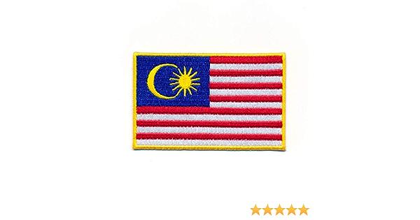 Hegibaer 60 X 35 Mm Malaysia Flagge Kuala Lumpur Flag Patch Aufnäher Aufbügler 1999 B Auto