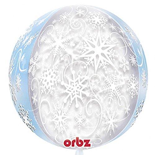 bz Frozen Schneeflocke Ballon Ice Snow Flake Design Weihnachten Party Dekoration Kugel blau weiß Orb Winter Wonderland ()