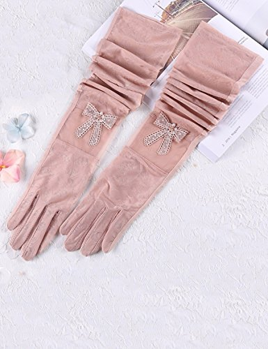 Lei Ice Silk Spring Anti-UV Long Driving Sunscreen Gloves Female Thin Section D'une variété de couleurs Sunscreen Gloves ( Couleur : 4 ) 4