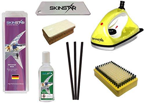 SkinStar Skiwax Set Skiwachs Starter Set mit Belagsausbesserung 7- teilig
