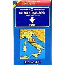 Kümmerly & Frey Karten, Umbrien, Italienische Adria (Kümmerly+Frey Strassenkarten, Band 8)