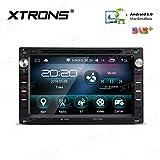 XTRONS 7 pulgadas Android 6.0 HD pantalla digital multitáctil coche radio estéreo reproductor de DVD 16 G ROM coche GPS WiFi Bluetooth pantalla espejo OBD DVR para VW Golf SEAT Skoda