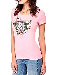 Guess W82I06 JA900 SS RN Roses T-Shirt Damen