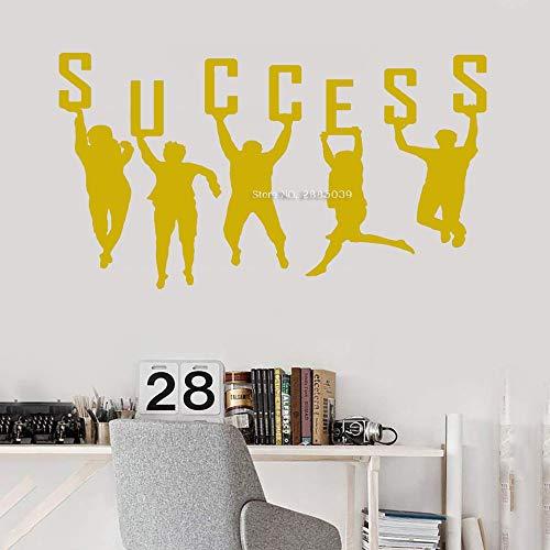 JJHR Wandtattoos Wandaufkleber Erfolgreiche Wandbilder Büro Wandtattoo Teamwork Poster Arbeit Idee Firma Dekor Kunst Aufkleber Tapeten 42 * 45Cm