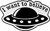 "Matt Stewart, I Want to Believe Spaceship, Licensed Original Artwork, Expertly Designed ENAMEL PIN - 1.25"" x 0.60"""