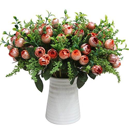 Kicode Tee Knospe Perle Künstliche Fake Floral Rose Blume Simulation Rose Für Home Hotel Büro Hochzeitsfest Garten Handw