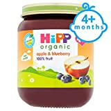 Hipp 4 Month Organic Apple And Blueberry Dessert 125G Jar