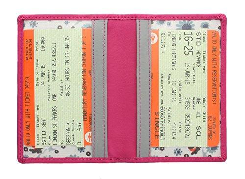 Porta tessere da viaggio / abbonamenti Mala Leather. Collezione CARA 620TC_73 Grigio Rosa