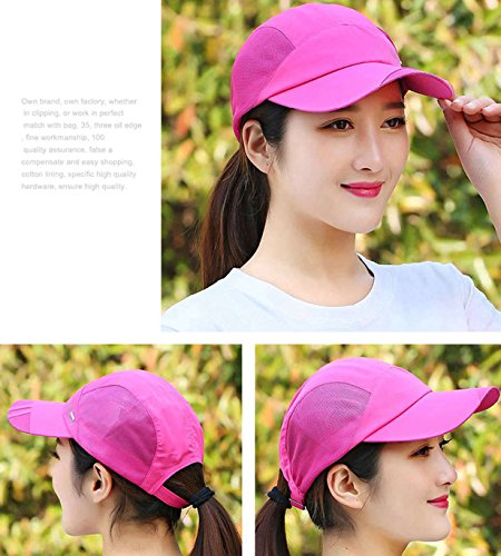 GADIEMENSS Quick Dry Sports Hat Lightweight Breathable Soft Outdoor Running Cap (Many styles and colours) Classic series, DeepPink