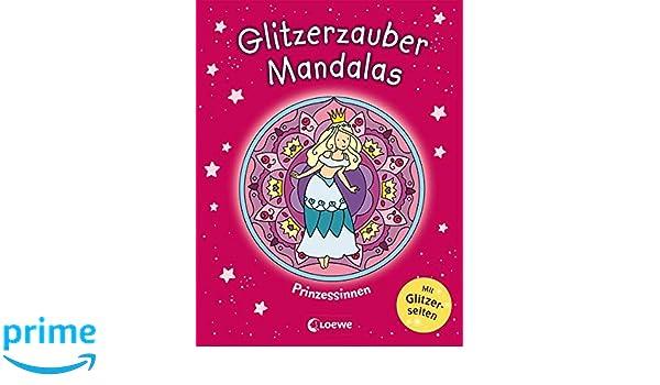Prinzessinnen Malbuch für Mädchen ab 5 Jahre Buch 2019 Glitzerzauber-Mandalas Bastel- & Kreativ-Bedarf für Kinder