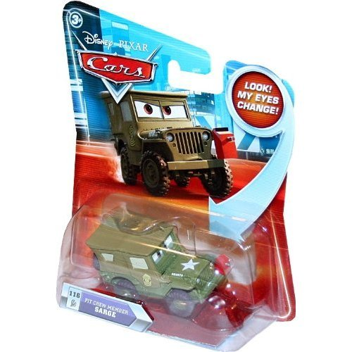 Disney Cars R6512 Pit Crew Member Sarge Look my eyes change