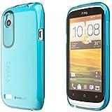 ECENCE HTC Desire X Silikon TPU case schutz hülle handy tasche cover schale durchsichtig blau 31020206