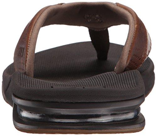 Reef Leather Fanning, Flip-flop homme Marron - Marrón (Brown / Brown)
