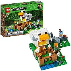 Lego Minecraft Pollaio, Multicolore, 21140