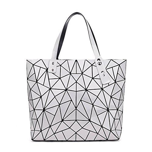 Hand Lingge Paket Geometrie Laser- Gefaltet Mode Handtaschen Silver