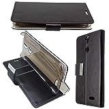 caseroxx Hülle/Tasche Bookstyle-Case schwarz + Displayschutzfolie für Vernee Thor, Set Bestehend aus Bookstyle-Case und Displayschutzfolie