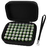 Batterie Aufbewahrungsbox Batteriebox - Hält 48 Batterien AA mit Handschlaufe - Schwarz