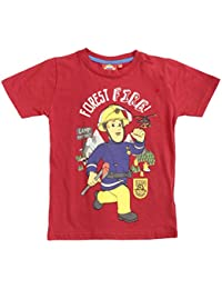 Hit Entertainment Official Licensed Fireman Sam Boys T-Shirt Top Red Age 4 6 8