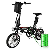 Ancheer Faltbares E-Bike, Elektrofahrrad Klapprad 250W Mountainbike, Große Kapazität Pedelec mit...