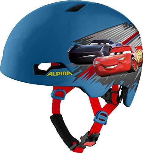 Alpina Jungen Hackney Disney Fahrradhelm, Cars, 47-51 cm