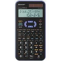 Sharp EL-520XGVL - Calculadora (bolsillo, Científico, Negro, Azul, Botones, Battery/Solar, 80 mm)