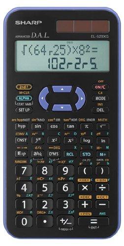 Sharp EL-520XG-VL  Wissenschaftlicher Schulrechner (2-zeilig Anzeige, 399 Funktionen, D.A.L.-Eingabe) violett/schwarz