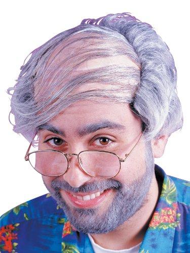 Fun World 8599 Perücke mit Glatze und übergekämmten Haaren - Einheitsgröße