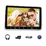 Tragbarer Auto-DVD-Player für Auto & Home 10,1 Zoll TFT LCD Bildschirm Kopfstütze DVD-Player, Fahrzeug-Video-Monitor mit IR-Kopfhörer / 2A Netzteil / Fernbedienung / USB / SD / HDMI (CL101DVD+H+A)