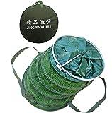 Rete da pesca, portatile, pieghevole e durevole pieghevole rete da pesca gabbia con sacchetto portatile