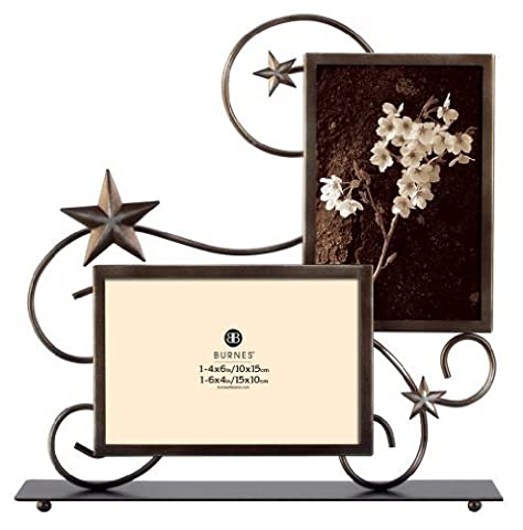 Burnes of Boston PS117364 Stars Wire 2 Opening Picture Frame, Venetian Copper by Burnes of Boston