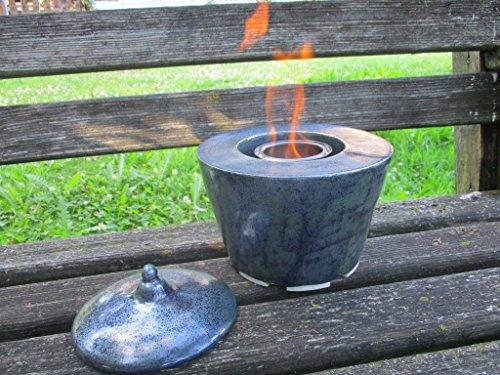 *Tischfeuer, Gartenfeuer aus Keramik, ca. 20 x 20 cm, mit 500 ml Brenndose*