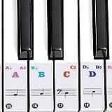Adesivi per pianoforte Tastiera Adesivi per pianoforte trasparenti ad alta adesività per pianoforti elettronici chiave 61/88