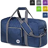 Packable and Roomy : This duffle can be fast folded into itself with a compact size of 60*28*35cm, only 1/20 of a regular size luggage. It takes a little space while have up-to 60Litre capacity to be used as a backup bag in case your suitcase Unique ...