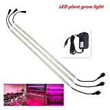Lampada a pianta,3PCS IP65 LED SMD5050 Pianta Grow Light Strip con Red Blue Light Creativo Coltiva la lampada per Indoor Hydroponic Plant Vegetable Coltura Orticoltura Industrial Seedling