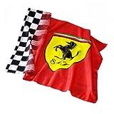 Scuderia Ferrari Flagge rot 150x100cm karierter Rand