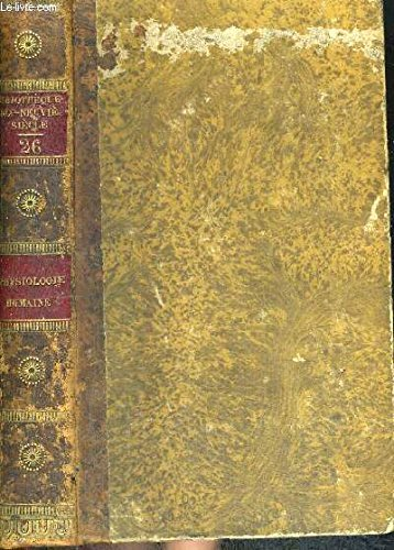 ESSAI SUR LA PHYSIOLOGIE HUMAINE - TOME 26 - BIBLIOTHEQUE DIX NEUVIEME SIECLE par GRIMAUD MM. G. - DUROCHER V.C.