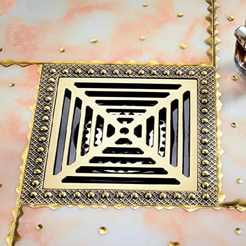 Hiwenr Duschrinne 15Cm Euro Antik Messing Bodenablauf Abdeckung Dusche Platz Abfall Rost Sieb Haar Badezimmer Bad Zubehör (Messing Bodenablauf Abdeckung)