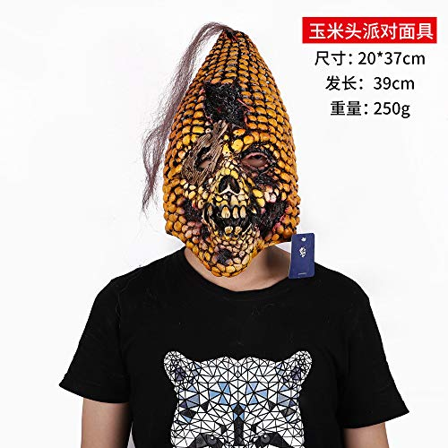 DY Halloween Maske Horror Kostüm Tanz Dämon Gas Maske Zombie Untote Latex Kopf Set Party Kultur P0300701409 Cornhead Partymaske (68-3-06)