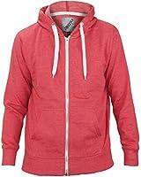 New Plain Unisex American Fleece Zip Up Hoody Jacket Sweatshirt Hooded Zipper Top