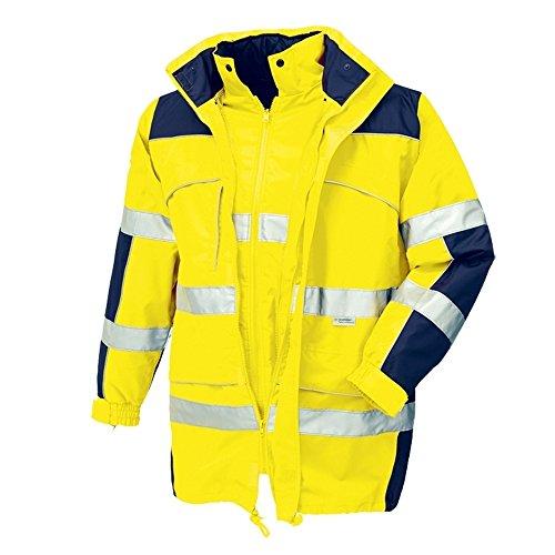 Preisvergleich Produktbild teXXor 4114 Warnschutz-Parka Toronto Wasserdichte, Winddichte Arbeitsjacke gelb XL, XXL