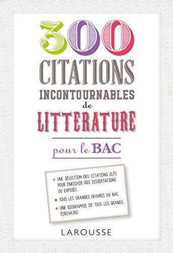 300 citations incontournables de littérature par Laurence Babic