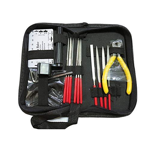 Bigherdez Professionelle Gitarre Pflege Werkzeug Reparatur Wartung Tech Kit Set für akustische elektrische Bass Guitar Tools Kit für Gitarre - Gitarre Elektrische Kits