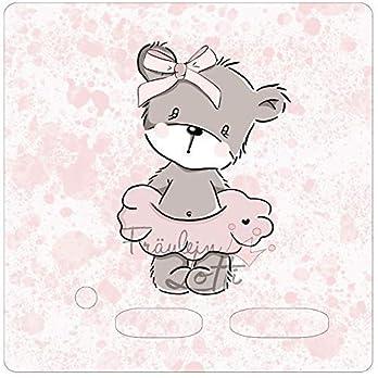Aufkleber/Schutzfolie/Folie, Toniebox Zubehör, design by stuff deluxe, Motivfolie mit Ballerina und rosa Marmorierung, inkl. transparenter Schutzfolie