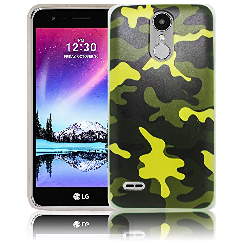thematys LG Mobile K10 2017 Camouflage Army Silikon Schutz-Hülle weiche Tasche Cover Case Bumper Etui Flip Smartphone Handy Backcover Schutzhülle Handyhülle