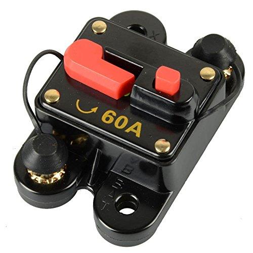 Preisvergleich Produktbild RKURCK Schutzschalter 250A,  Sicherungshalter Trolling Motor Auto Auto Marine Boot Fahrrad Stereo Audio Inline-Wechselrichterrelais DC 12-24V (60A)