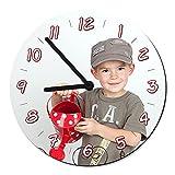 Schilderfeuerwehr Wanduhr rund mit Foto selbst Gestalten und Bedrucken Lassen ✓ 30cm x 30cm ✓ Küchenuhr ✓ Kinderuhr ✓ Uhr